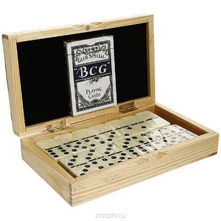 Купить Подарочный набор домино и карты, в деревянной шкатулке. DC-5010W