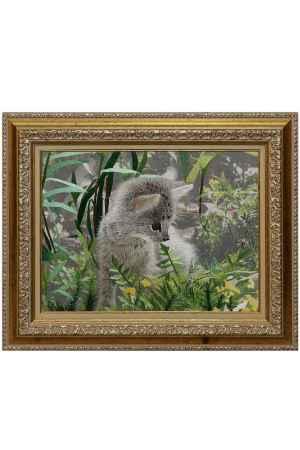 Купить Живой шелк Любопытный котенок Живой шелк 200510Б16 МУЛЬТИКОЛОР