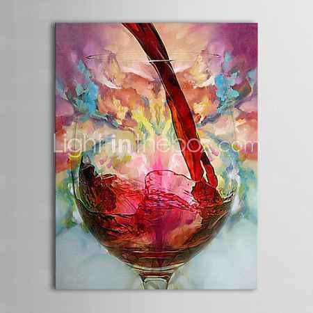 Купить Картина маслом, ручной росписи, натюрморт с вином