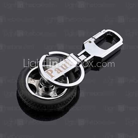 Купить индивидуальный гравировка колесо металл брелок