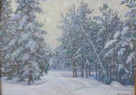 """Купить Картина """"Зимний лес"""""""