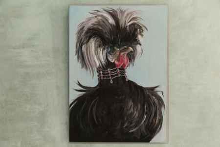 "Купить Картина ""Курица черная"" (""Курица №2"")"