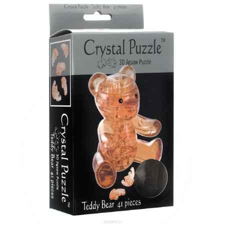 Купить Crystal Puzzle Мишка Teddy, цвет: желтый. Объемный 3D-пазл, 41 элемент