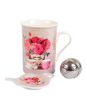 """Купить Чайный набор """"Розовый букет"""" (3 предмета)"""