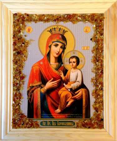 Купить Икона янтарная Богородица Скоропослушница КЯН-2-305