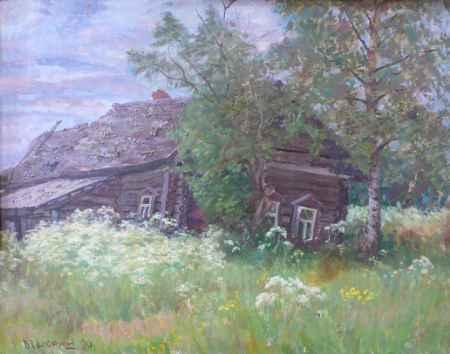 """Купить Картина """"Деревня. Брошенный дом"""""""