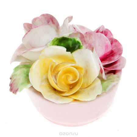Купить Миниатюрная цветочная композиция для украшения интерьера. Фарфор, роспись, ручная работа. Five towns, Великобритания, 1970-е гг.