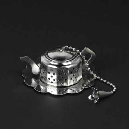 """Купить Ситечко для чая """"Чайник"""" на цепочке с подставкой (6 см)"""