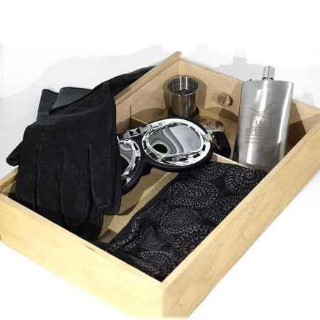Купить Подарочный набор Авиатор в деревянном кейсе