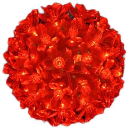 Купить Серпантин LED 50 Шар Красный 183-409