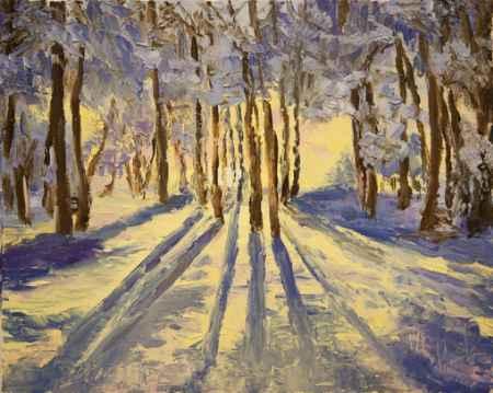 """Купить Картина """"Зимнее утро в парке"""""""
