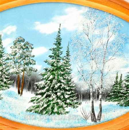 Купить Картина деревянная с каменной крошкой Зимнее Чудо кд-213
