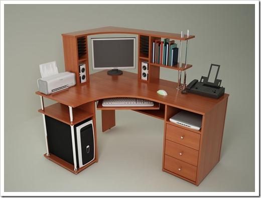 Существующие виды компьютерных столов