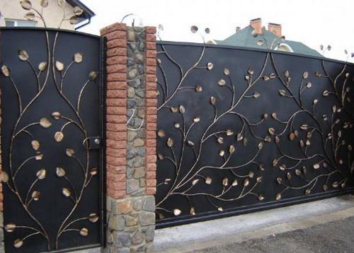 Преимущества кованых ворот