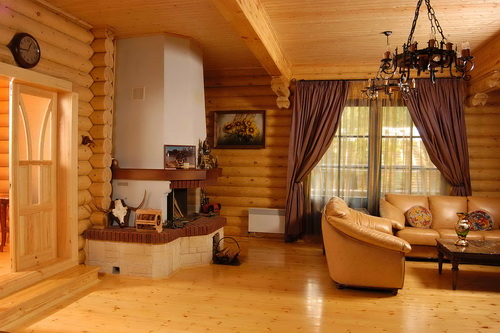 Чем отделать стены в деревянном доме внутри