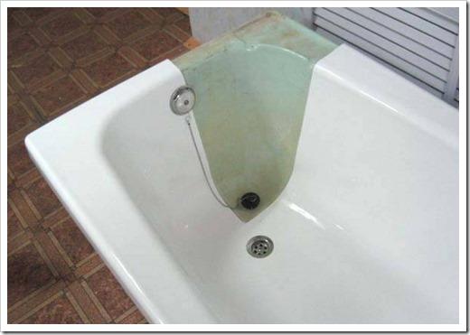 Эмалировка старой ванны.