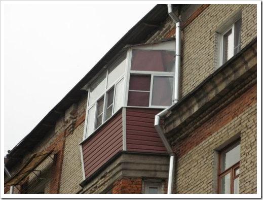 Различные типы профилей, которые используются для остекления балкона