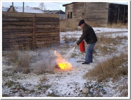 Использование огнетушителя в бытовых условиях