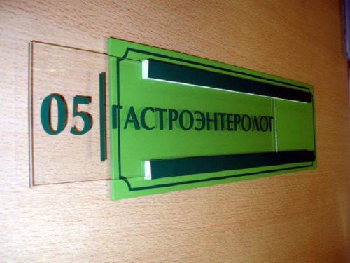 Как называются таблички на двери