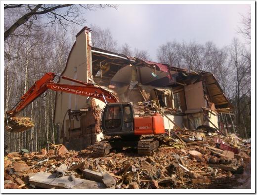 Полный и частичный демонтаж здания