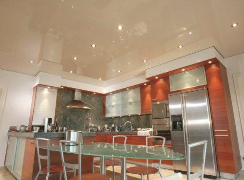 Какой натяжной потолок выбрать для кухни