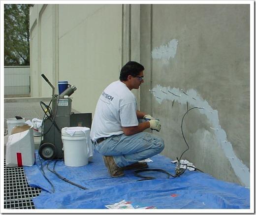 Локальный ремонт бетонных конструкций